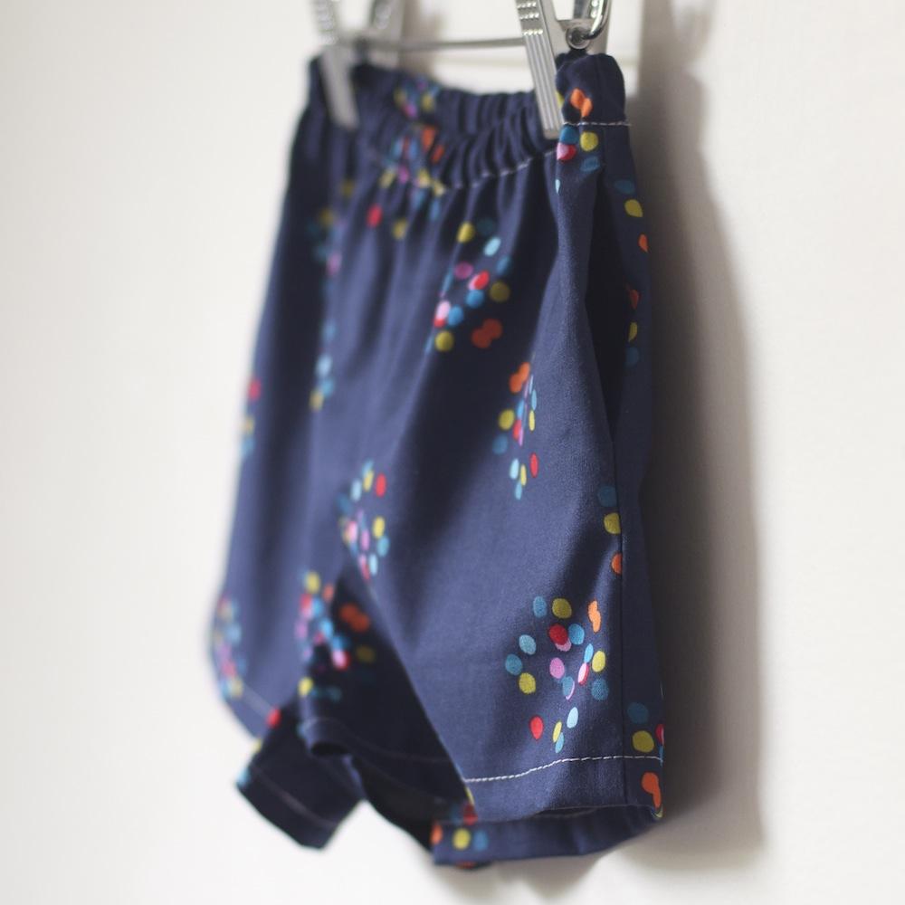 Inseam pocket kids shorts pdf pattern sewing