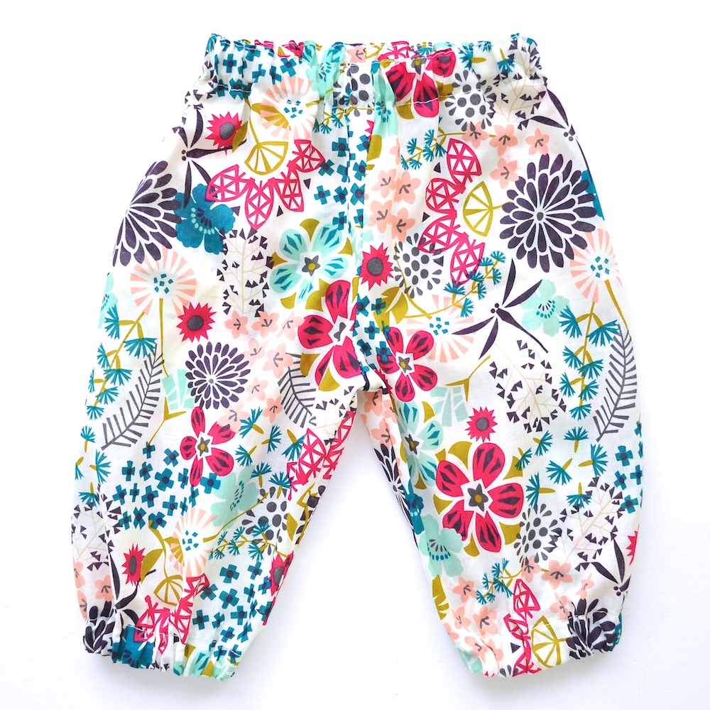 Harem Pants sewing pattern for babies and toddlers by Hey There Threads