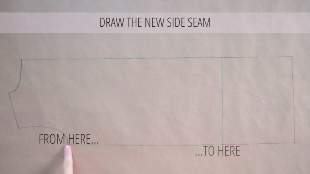 draw the new side seam