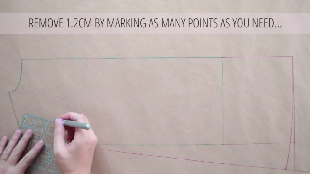 remove 1.2cm marking as many points as you can