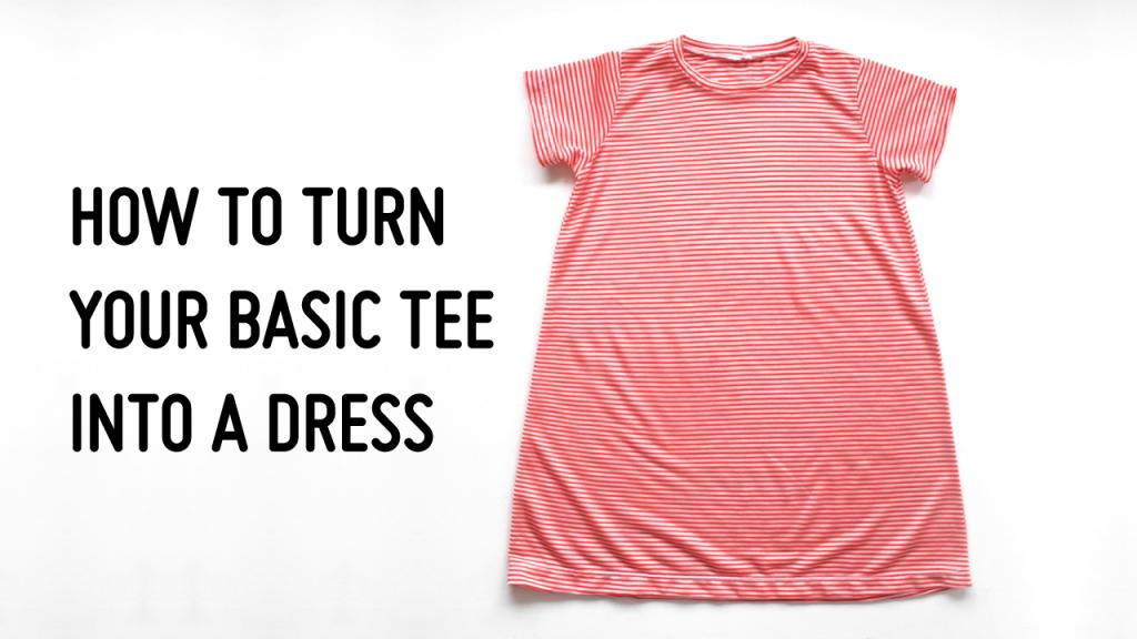 turn t-shirt pattern into a dress