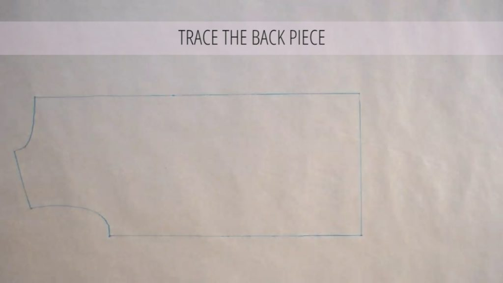 trace the back piece